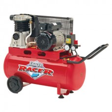 Clarke Racer 9/50P 2hp 50 Litre Belt Driven Air Compressor (110V)