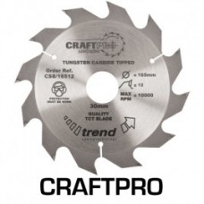 Trend Craft saw blade 165mm x 12 teeth x 30mm