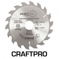 Trend Craft saw blade 165mm x 18 teeth x 30mm