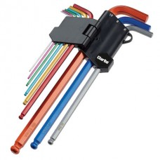 Clarke PRO344 9 Piece Colour Coded Extra-Long Ball End Metric Hex Key Set