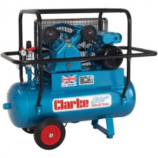 Clarke XEPVH11/50 9cfm 50Litre 2HP Portable Heavy Duty Air Compressor with Cage (110V)