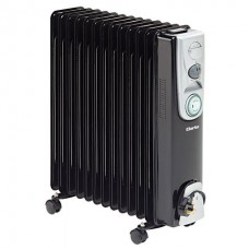 Clarke 2.5kW 13 Fin Black Oil Filled Radiator