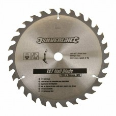 Silverline TCT Nail Blade 30T (190 x 16 - No Rings)